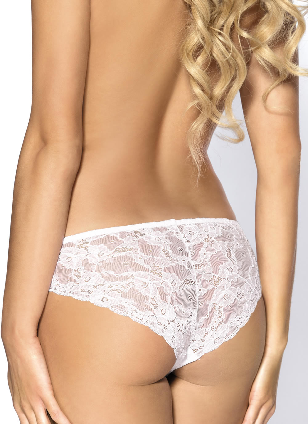 White lace brief panty