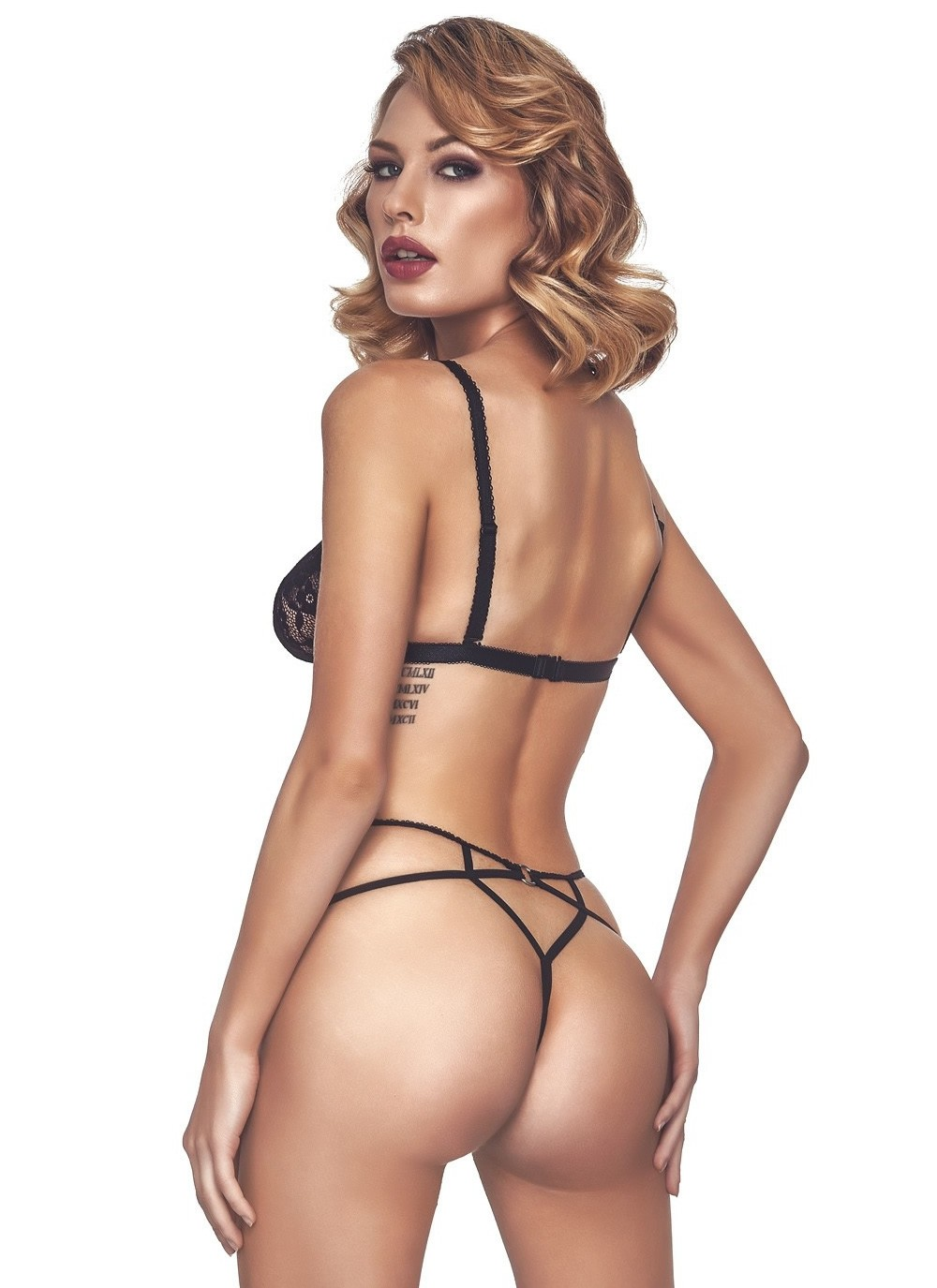 Alcyone Lace Strappy Cage Panty.