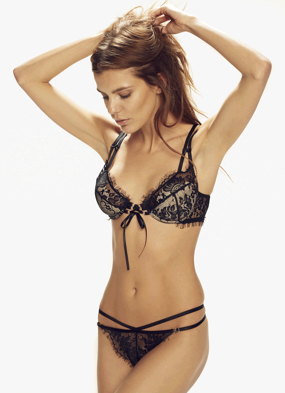Forever Young Strappy Lace Thong & Soft Cup Bra