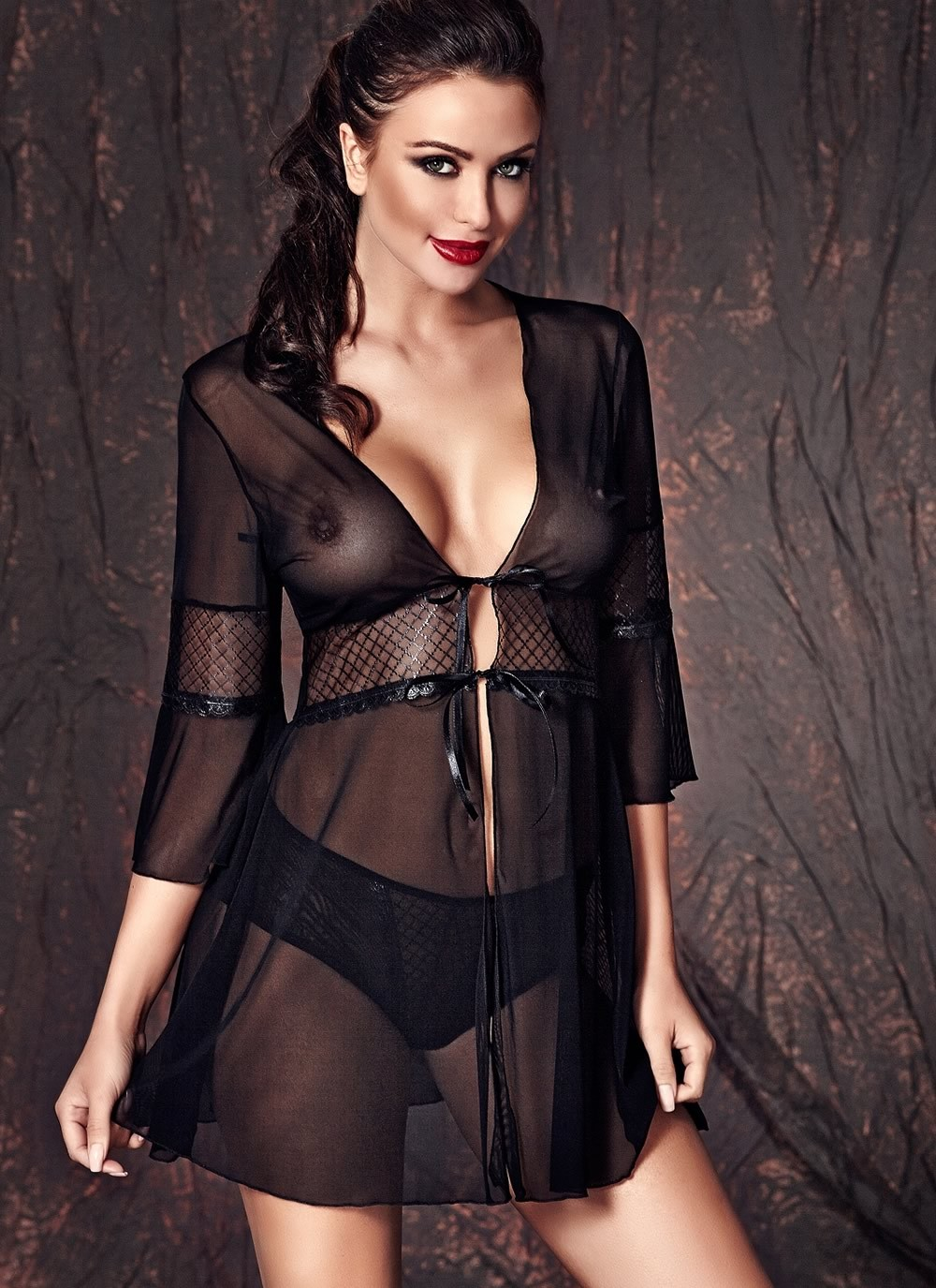 Camelie Sheer Robe