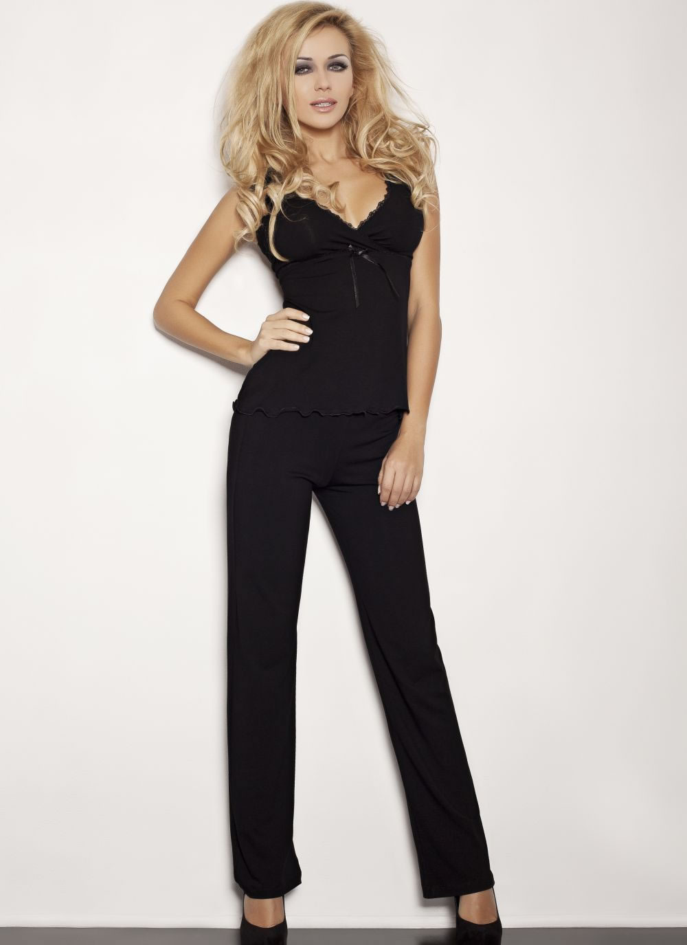 Elena Pajama Set - Black