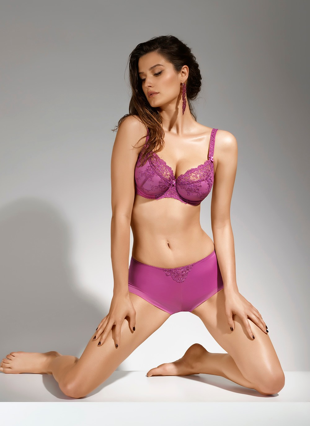 Lara Purple Semi Soft Cup Bra