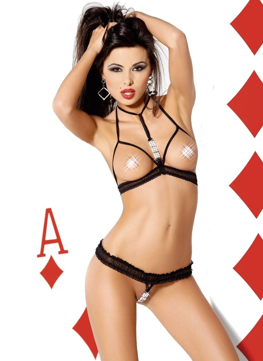 Hidden Ace Open Cup Bra & Panty