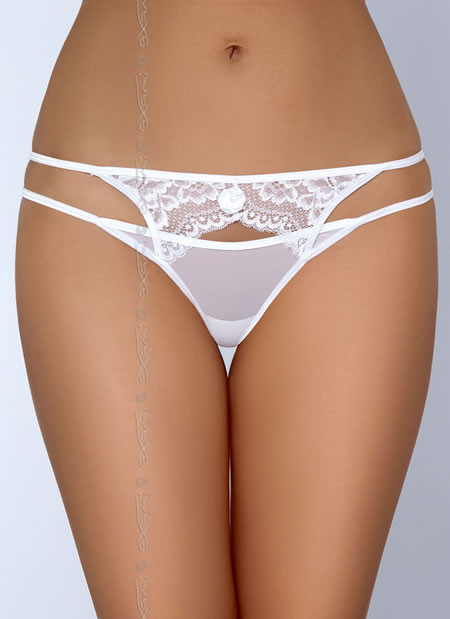 Angelic White Lace Thong