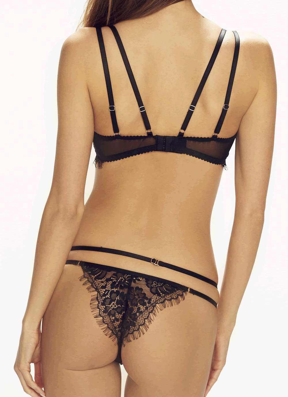 Forever Young Strappy Lace Thong back