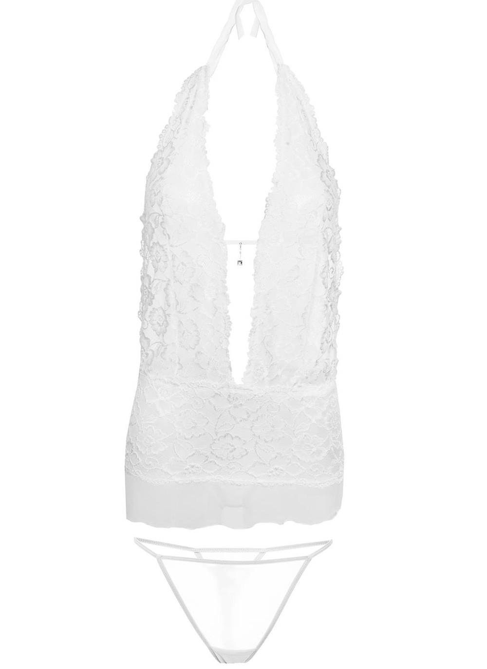 Emily Lace Chemise Set - White