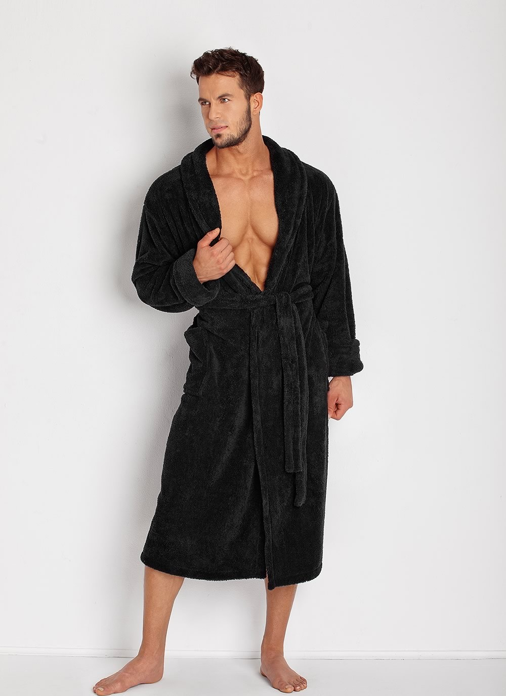 Men's Robe - Black