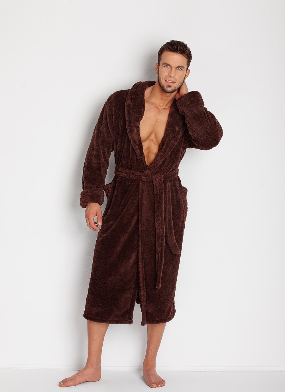 Men's Robe - Chocolate
