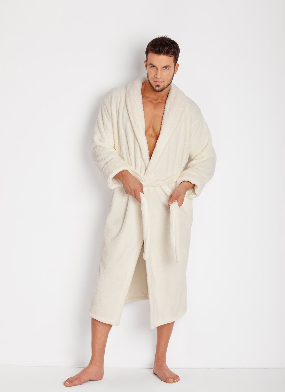 Men's Robe - Ecru