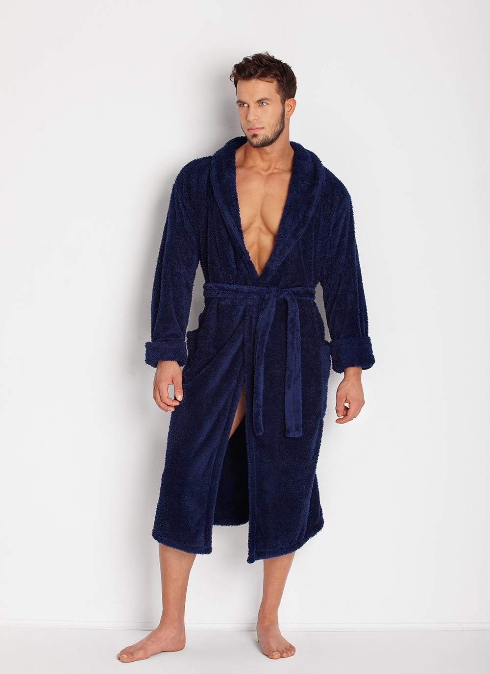 Men's Robe - Navy Blue