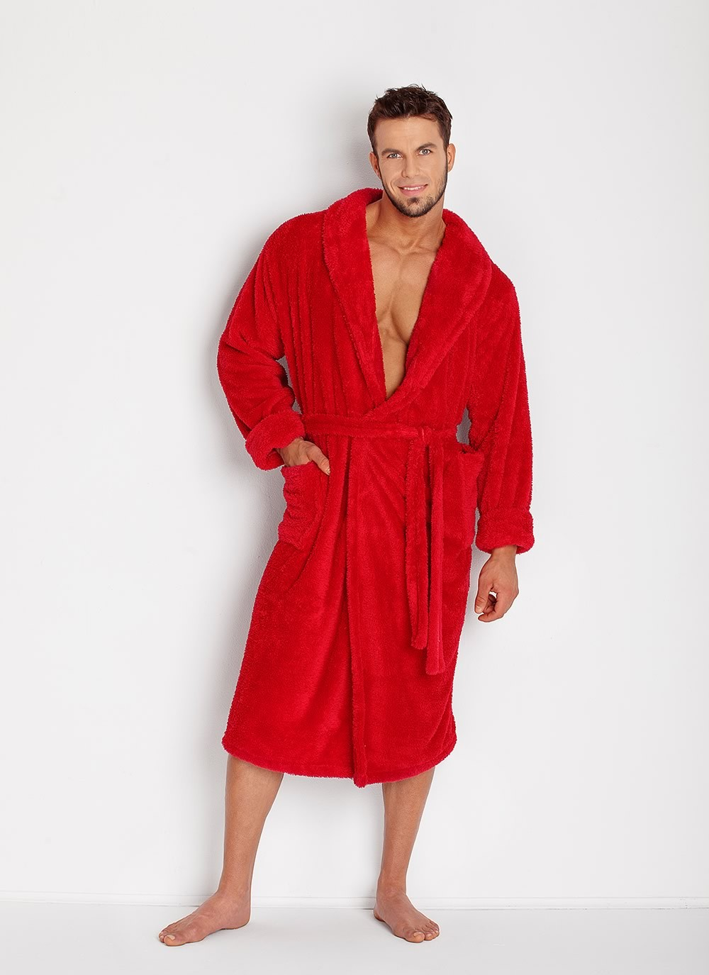 Men's Robe - Red