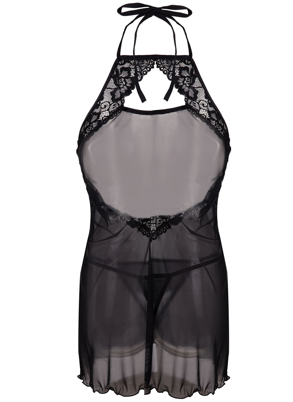 Ruta Sheer Chemise Set - Back