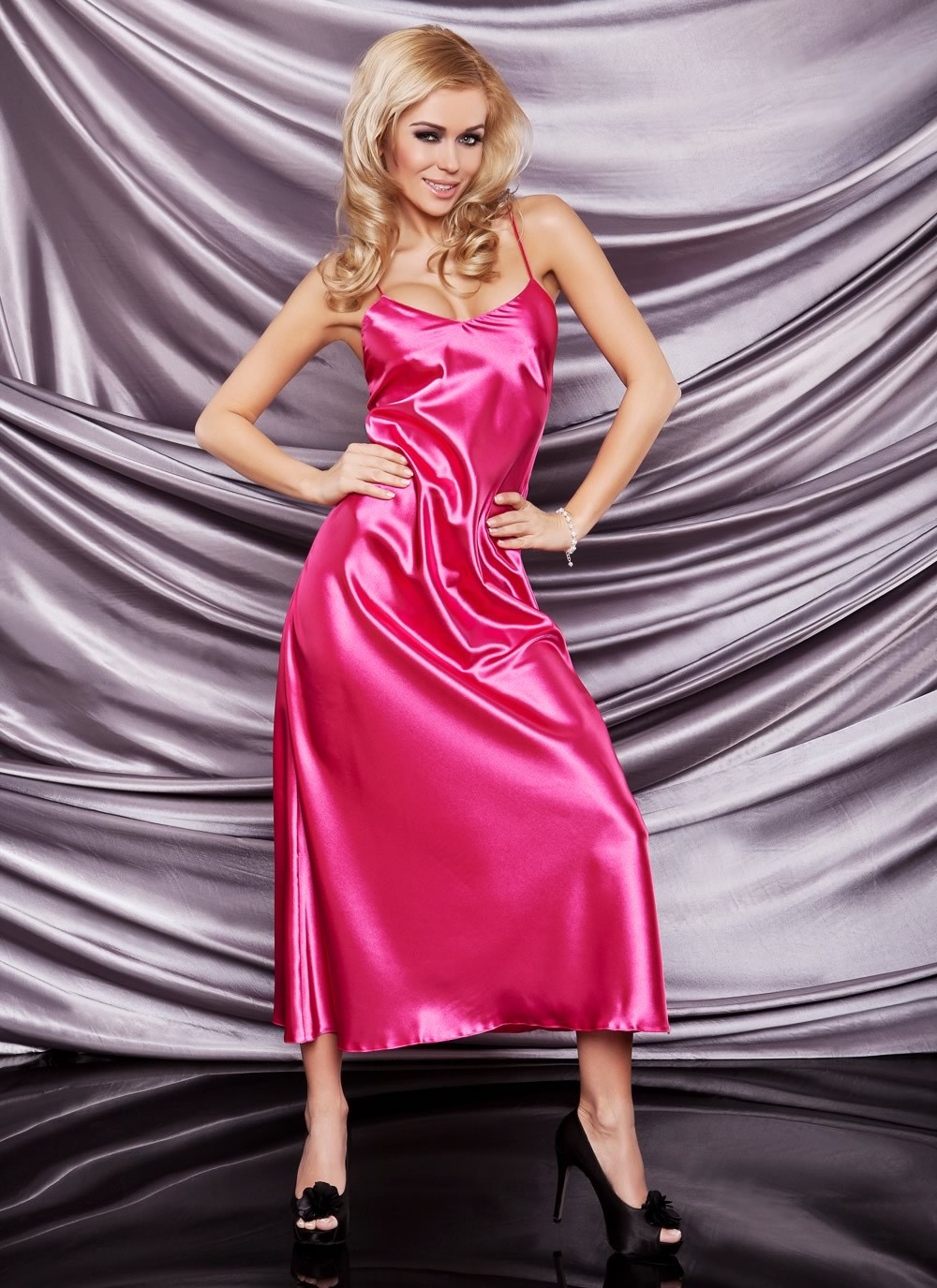 Iga Pink Satin Gown