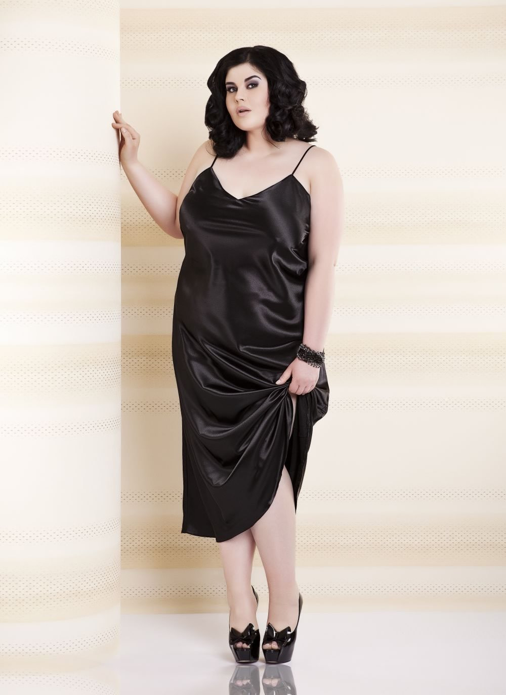 Iga Satin Gown - Plus Size