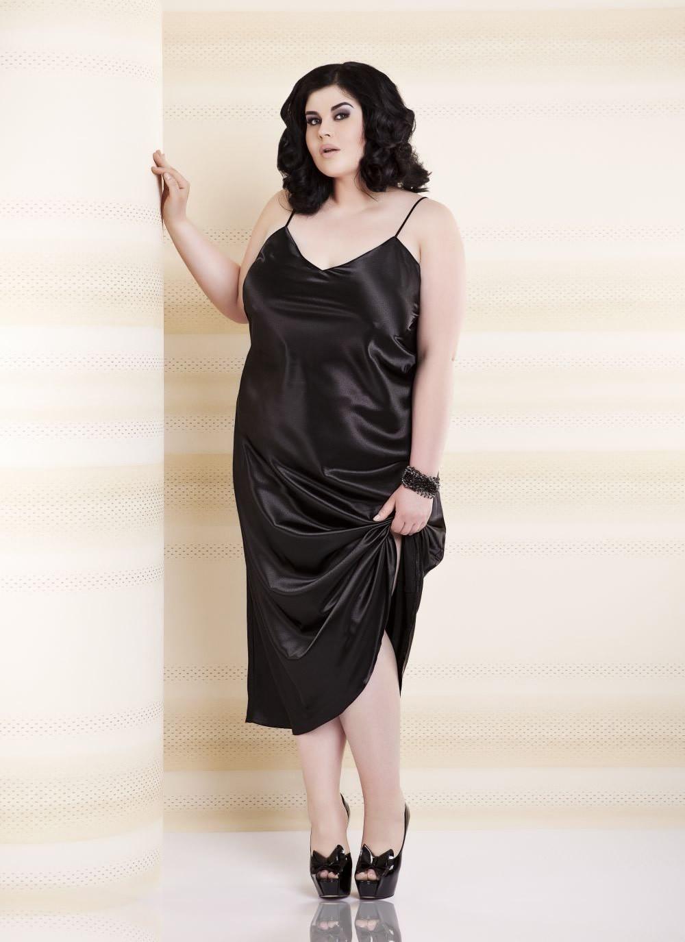 Iga Satin Gown - Plus Size