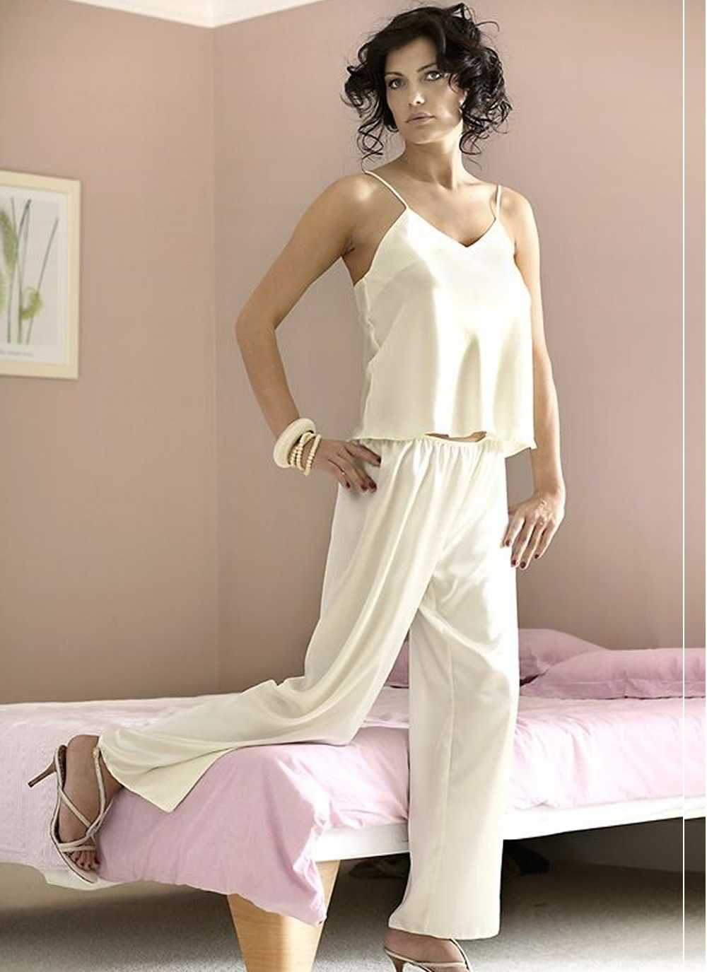 Iga Satin Pant Pyjama Set