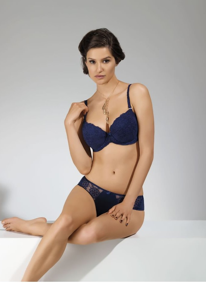 Lara Navy Blue Push Up Bra