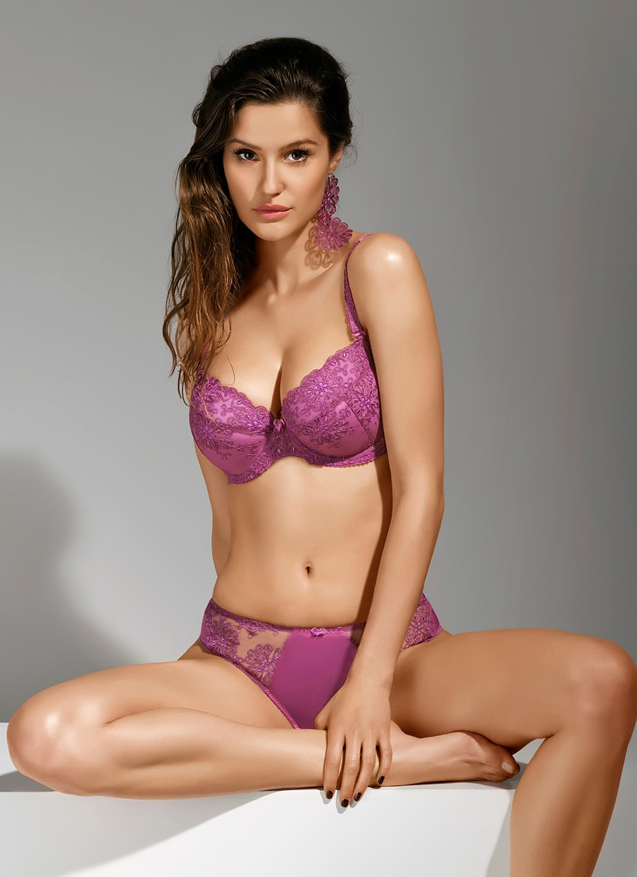 Lara Purple Push Up Bra