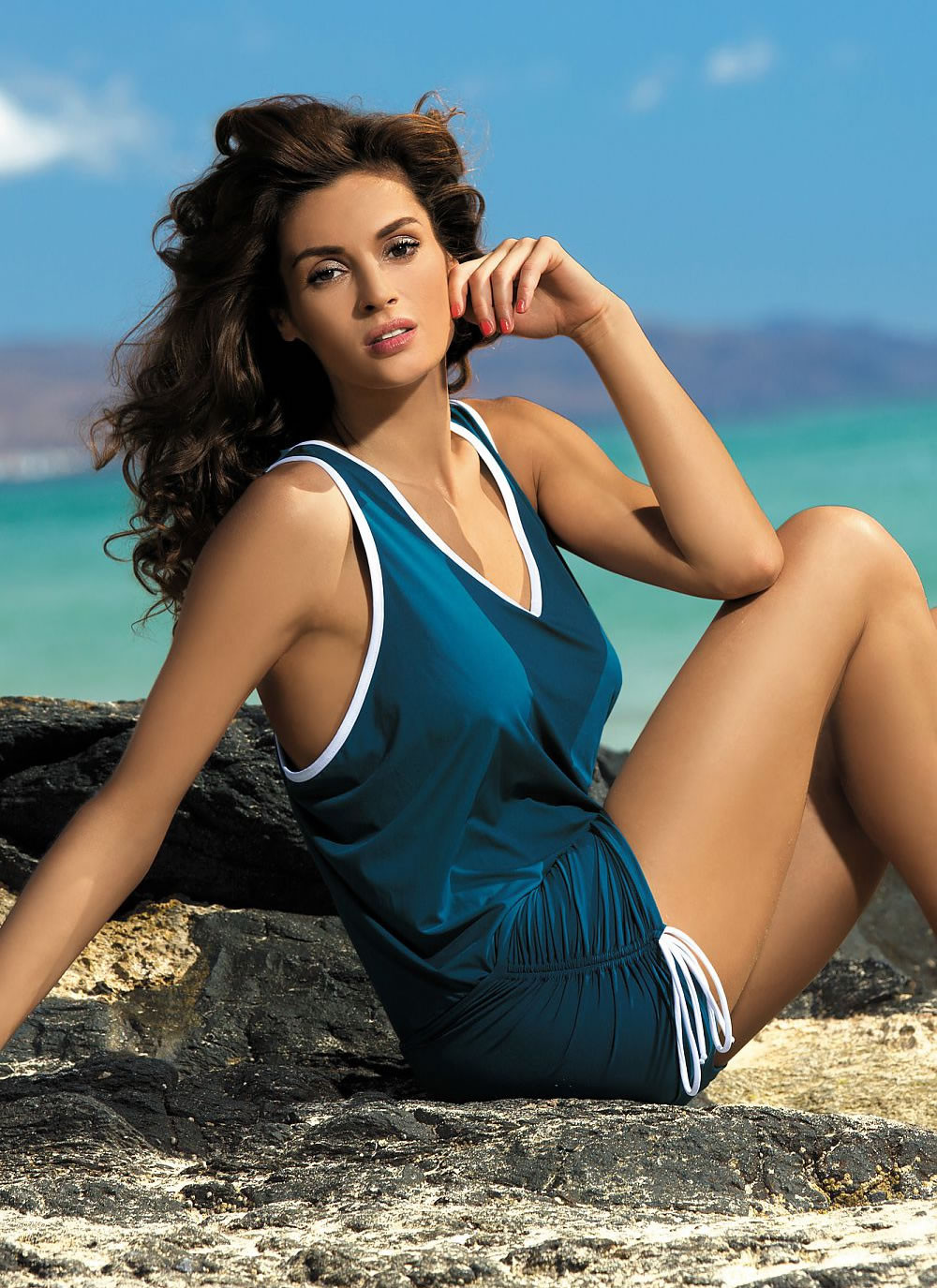 Elsa Sporty Beach Dress - Teal
