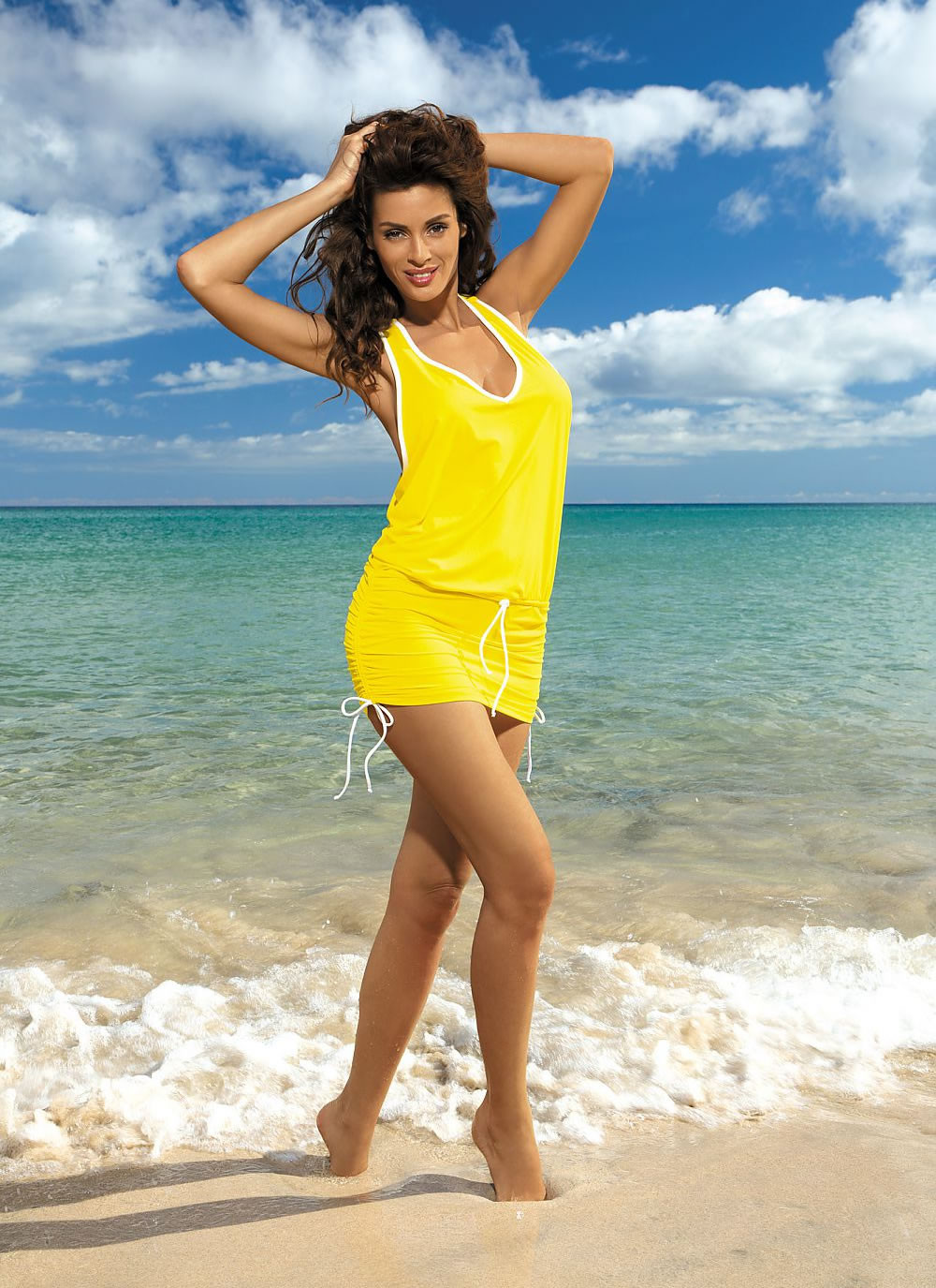 Elsa Sporty Beach Dress - Yellow