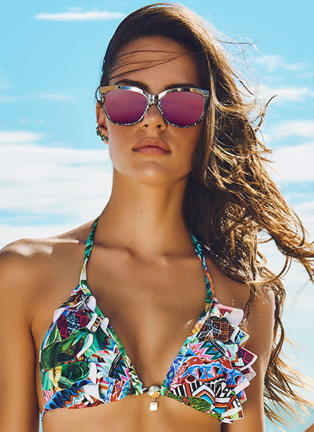 Ruffle Triangle Bikini Top