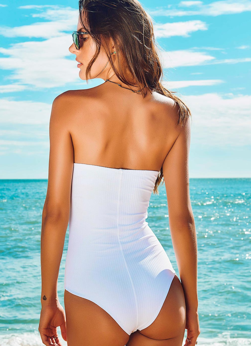 Maryssil - Textured One Piece Swimsuit