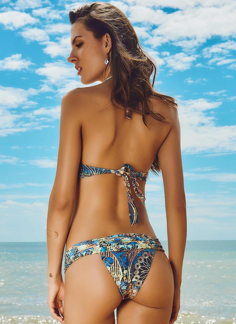 Printed Halter Bikini Top