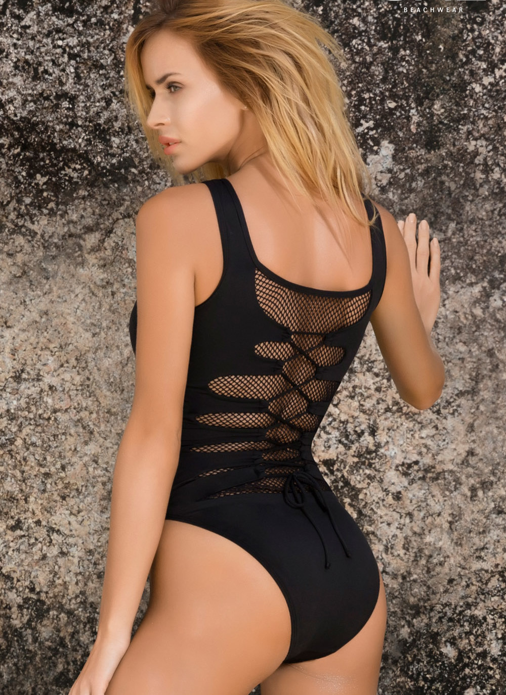 Eden One Piece Lace Up Swimsuit