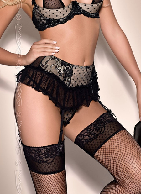 Dotty Tease Garter Belt