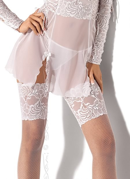 angelic white lace open cup bra by axami lingerie eye