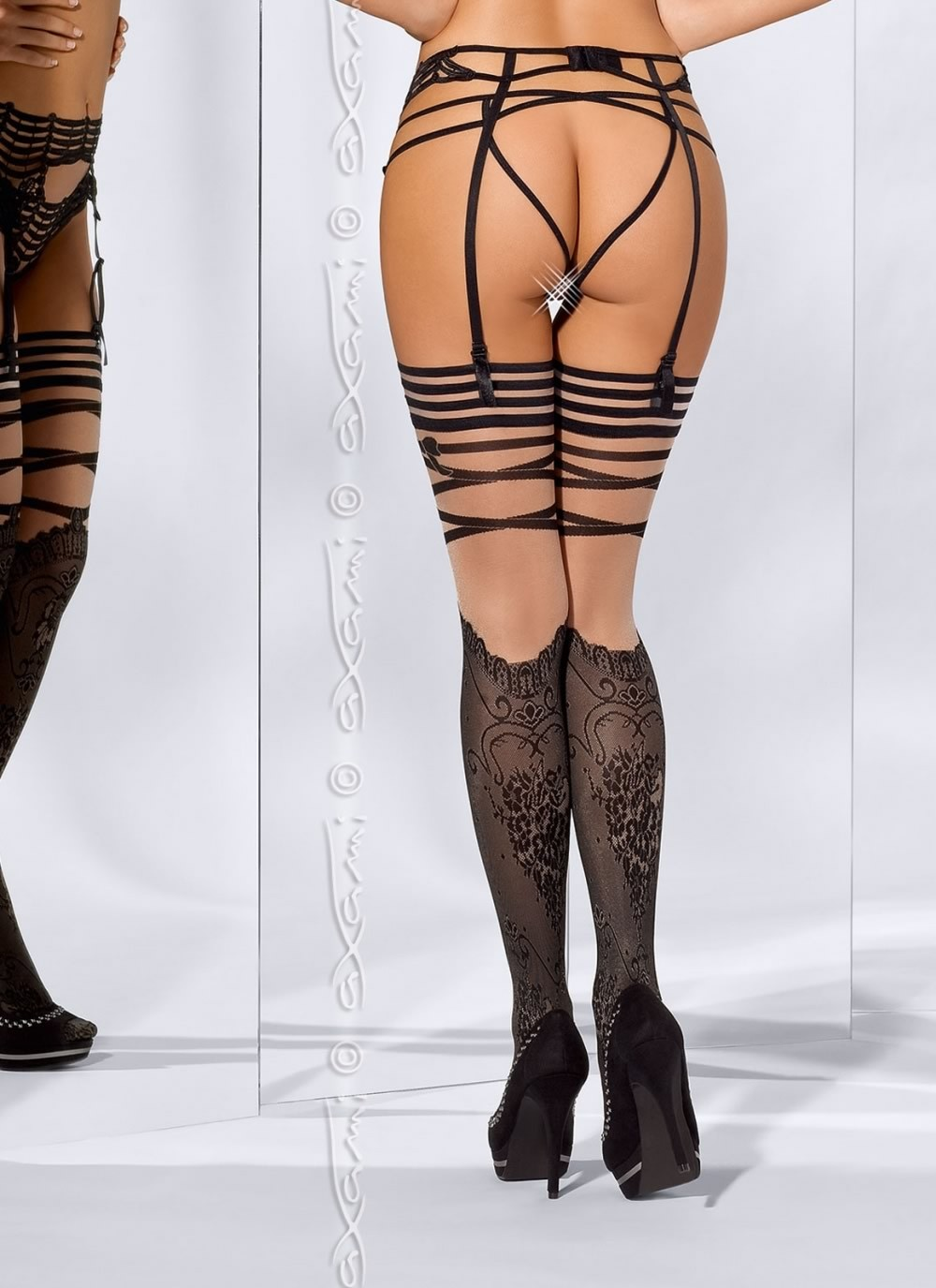 French Kiss Stockings - Back