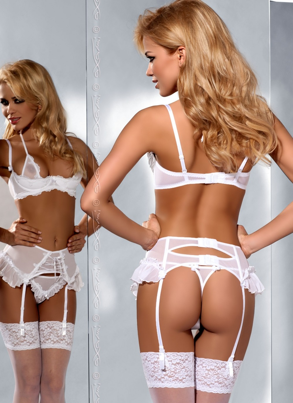 Cherish Me Garter Belt - Back