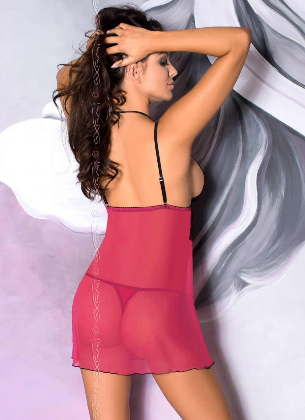 Almandine Luxurious Babydoll-back