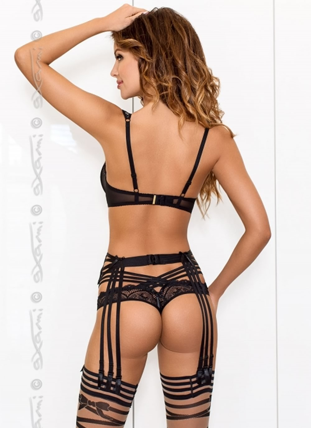 Grafite Garter Belt - Back