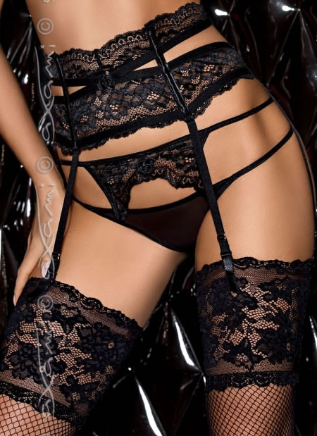Poison Black Lace Garter Belt