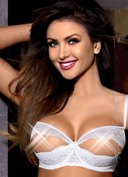 Angelic White Lace Open Cup Bra